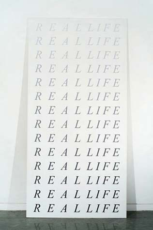 Matt Keegan, 'Real Life', 2008, latex and acrylic paint on sheet rock, 96 x 48 in